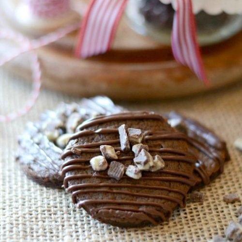Minty Triple Chocolate Cookies