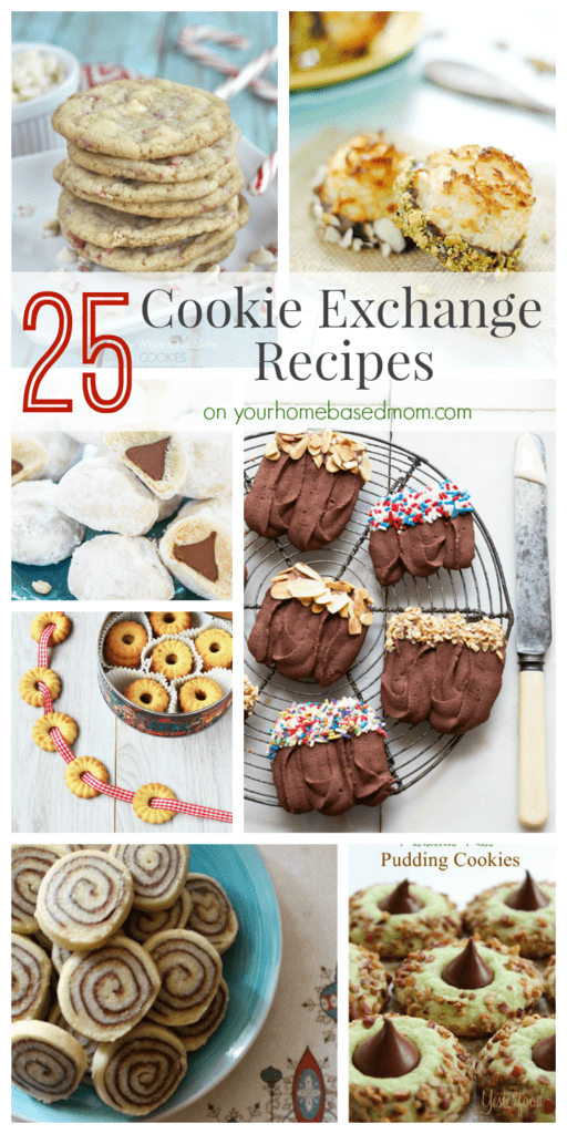 25 Cookie Exchange Recipe on Your Homebased Mom