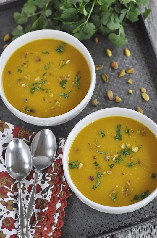 Curried Butternut Squash Soup - your homebased mom
