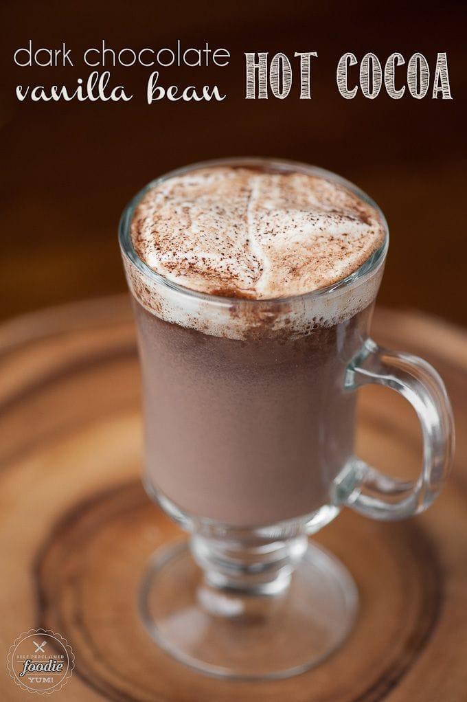 Dark Chocolate Vanilla Bean Hot Cocoa