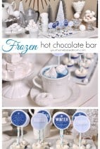 Frozen Themed Hot Chocolate Bar