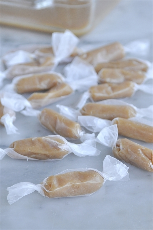 wrapped homemade caramels
