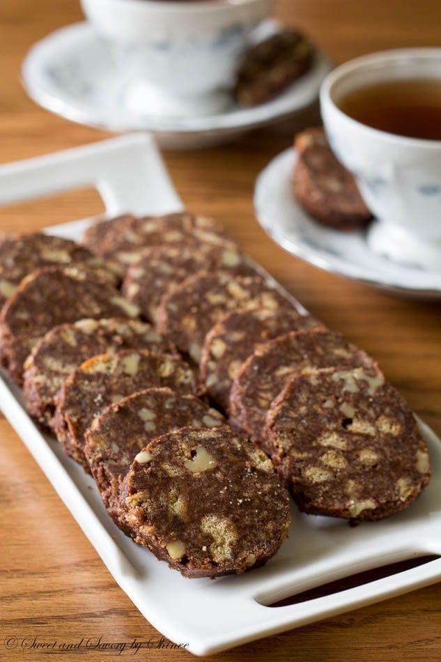 No-Bake Chocolate Salami Cookies