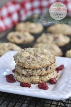 Pistachio Cranberry White Chocolate Oatmeal Cookies