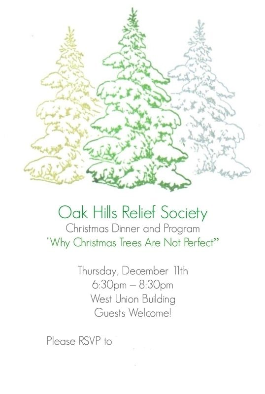 Wonderful Relief Society Christmas Party Ideas Part - 6: RS Invite Final