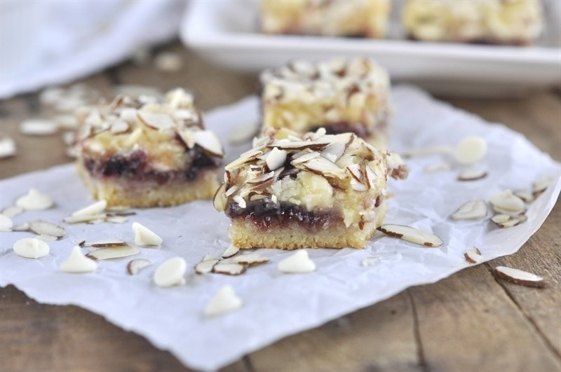 White Chocolate Cherry Almond Bars