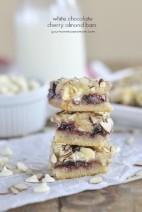 White Chocolate Cherry Almond Bars
