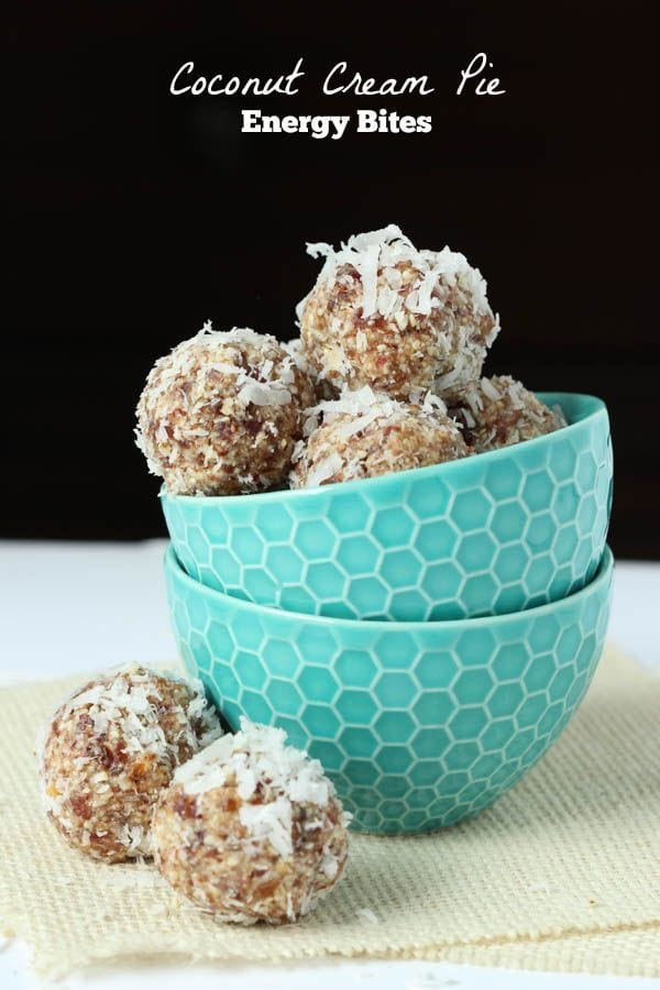 Coconut Cream Pie Energy Bites
