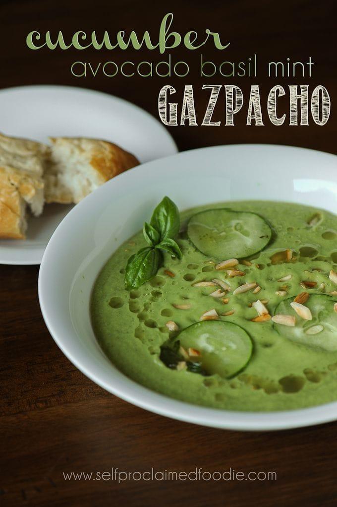 Cucumber Avocado Basil Mint Gazpacho