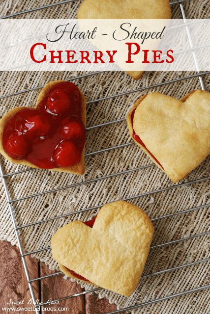 HEART SHAPED CHERRY PIES
