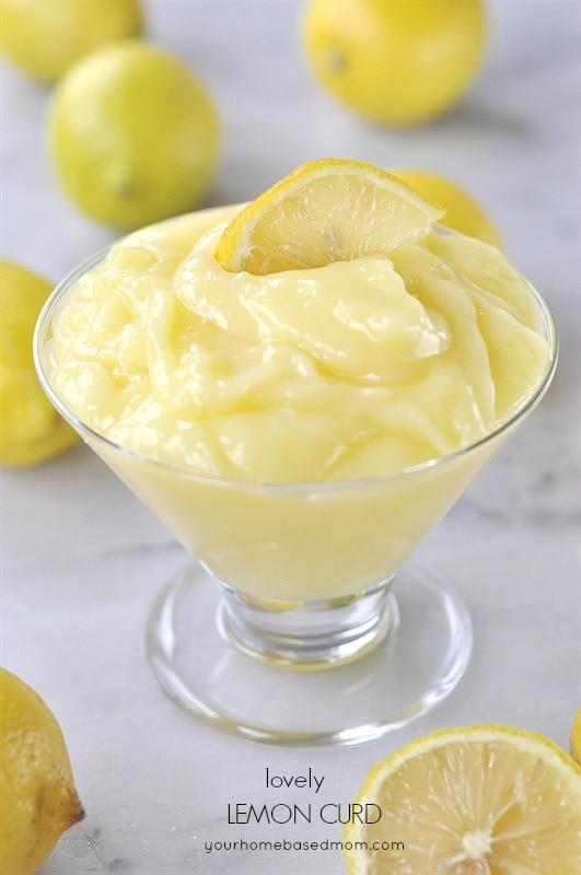 bowl of lemon curd