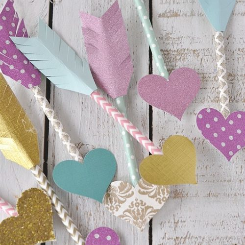 Paper Straw Arrows of Love