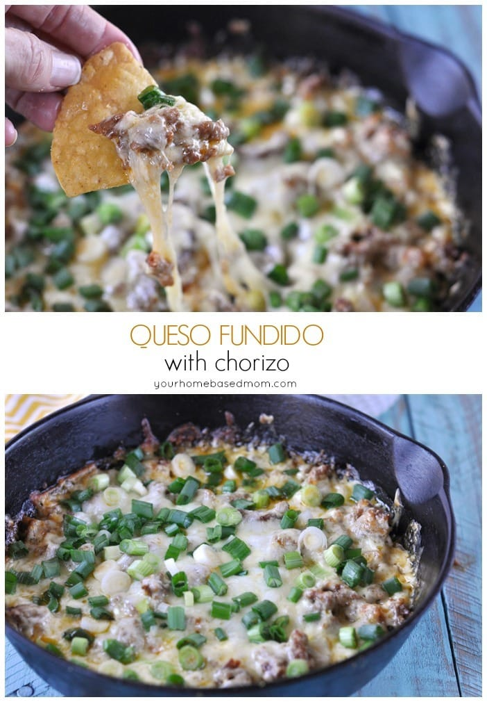 Queso Fundido with chorizo 1