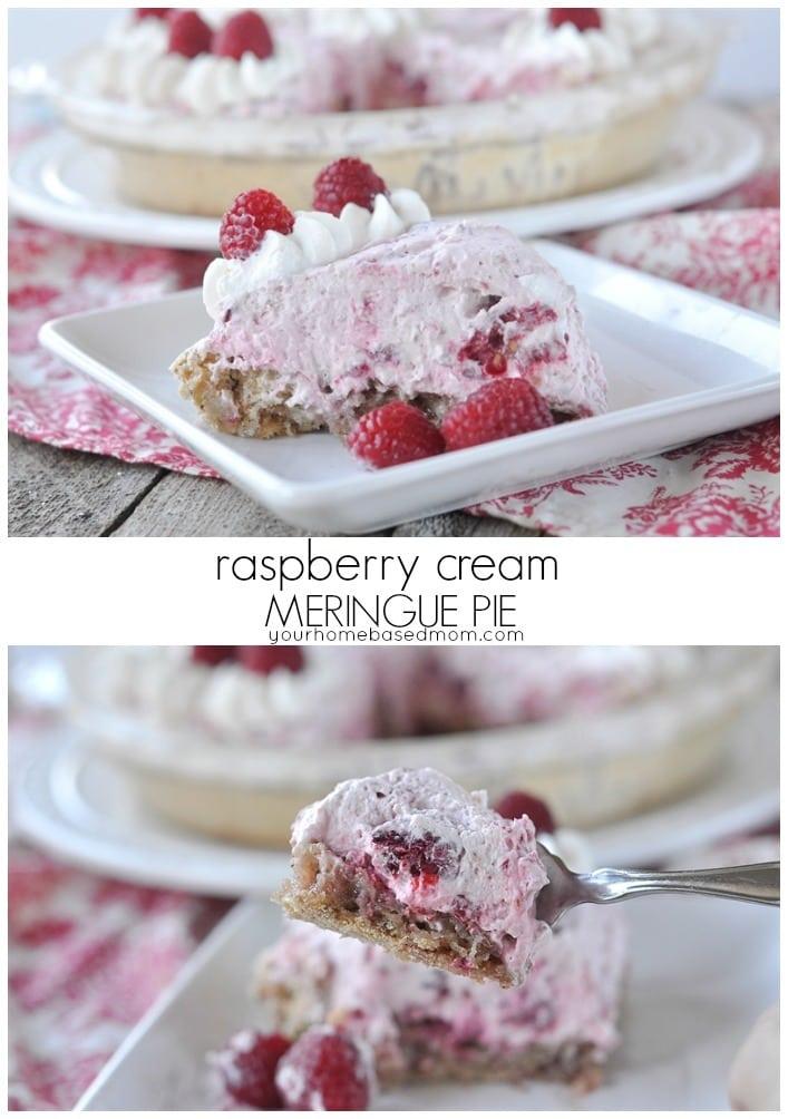 Raspberry Cream Meringue Pie