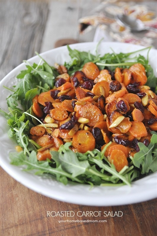 Roasted Carrot Salad - your homebased mom