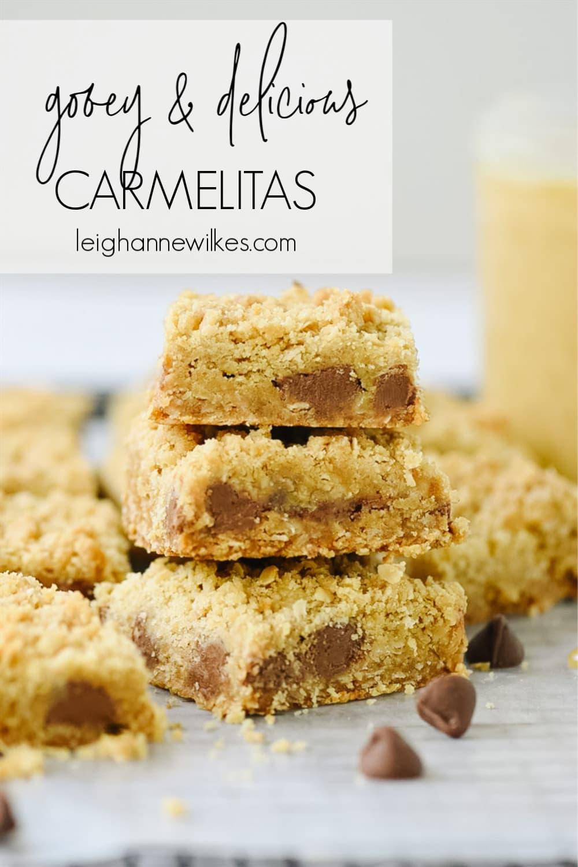 stack of carmelita bars