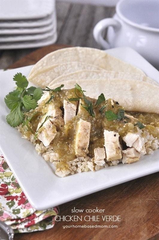 slow cooker chicken chili verde