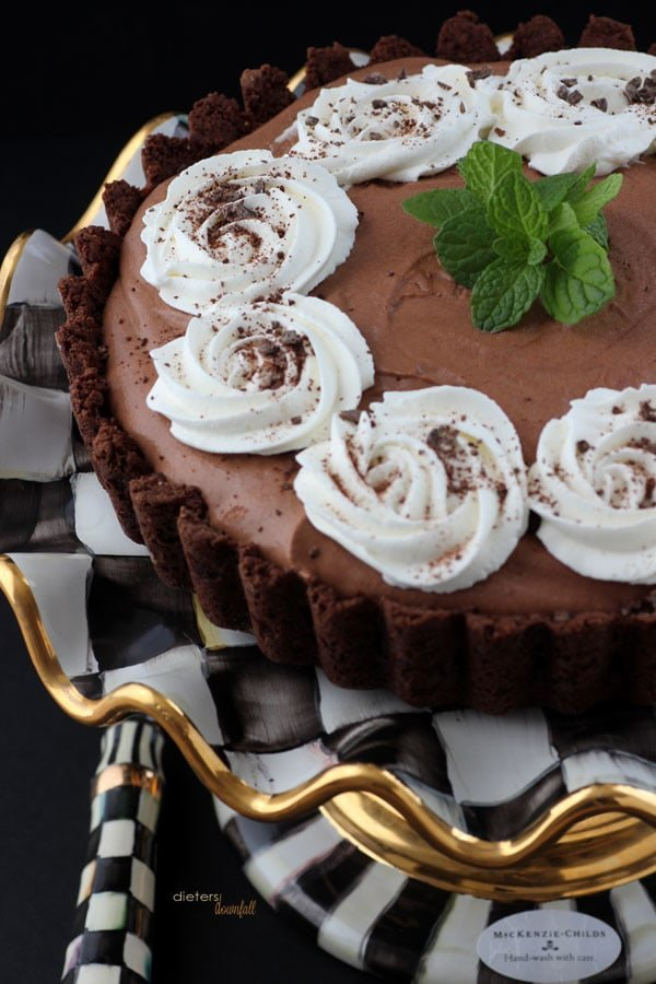 Chocolate Mint Mousse Tart