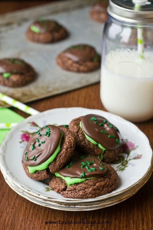 Peppermint Patty Brownie Cookies