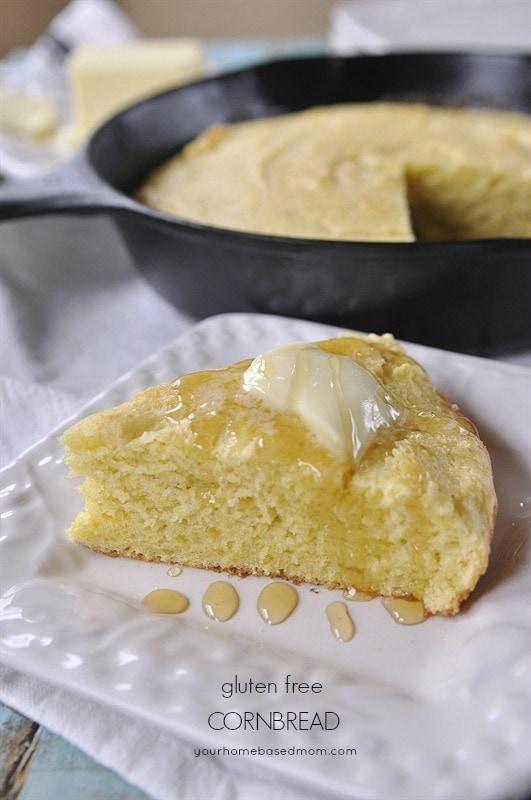 Gluten Free Cornbread @yourhomebasedmom