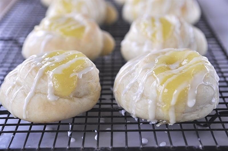 Lemon Curd Rolls with Lemon Drizzle
