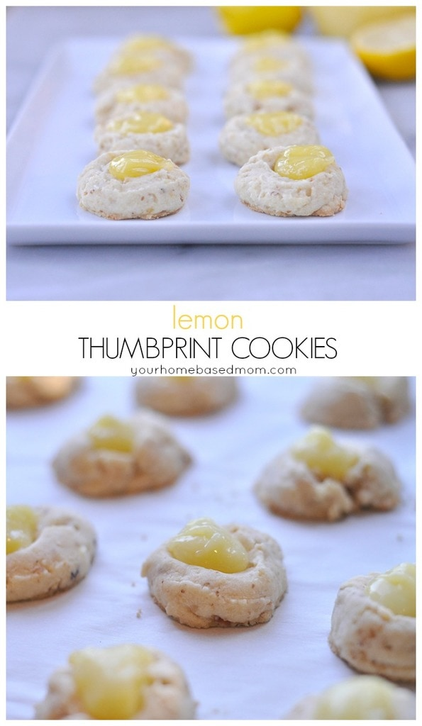 Lemon Thumbprint Cookies from yourhomebasedmom
