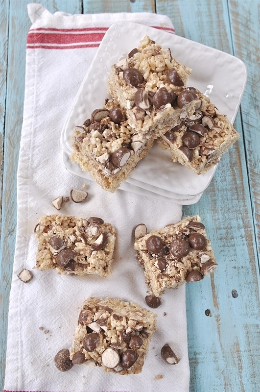 Malted Milk Ball Rice Krispie Treats