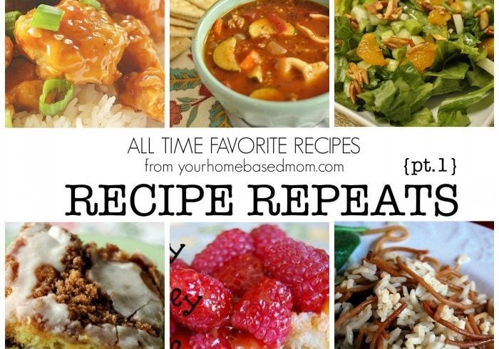 Recipe Repeats {Part 1}
