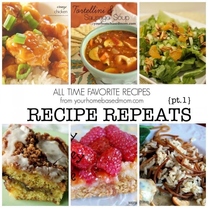 Recipe Repeats Pt. 1