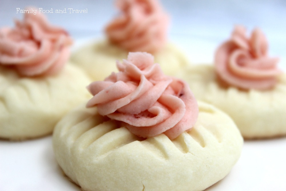 Strawberry Buttercream Sugar Cookies