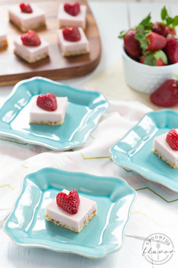 No Bake Strawberry Coconut Cream Bites