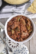 Slow Cooker Double Beef Chili
