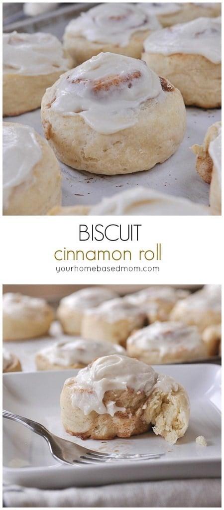 plate of biscuit cinnamon rolls