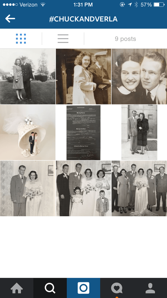 Instagram and family history @yourhomebasedmom