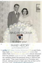 Using Instagram to share your Family History