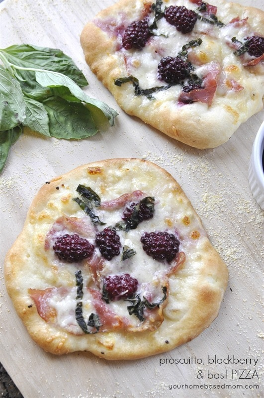 Proscuitto Blackberry & Basil Pizza