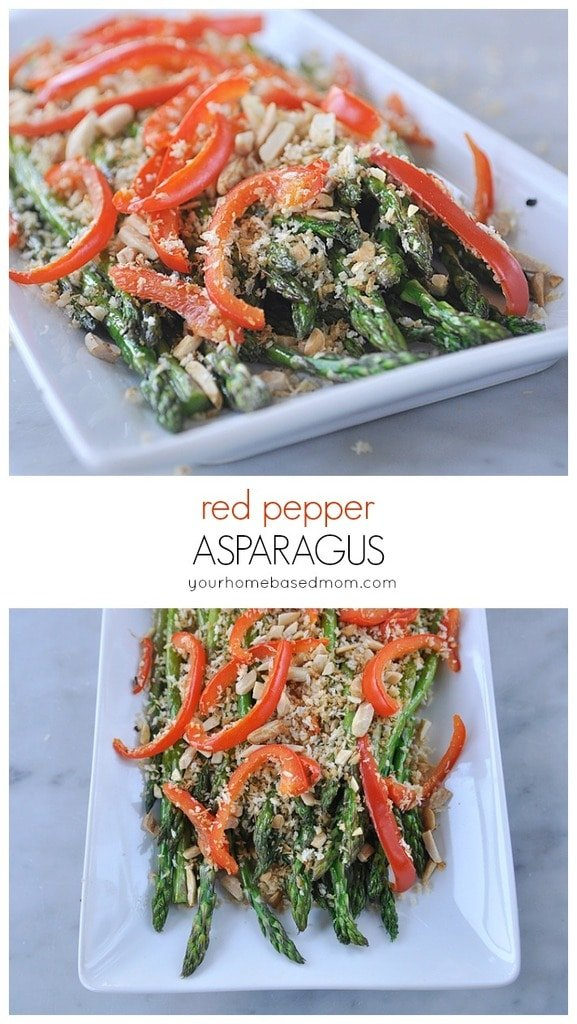 Red pepper Asparagus from yourhomebasedmom.com