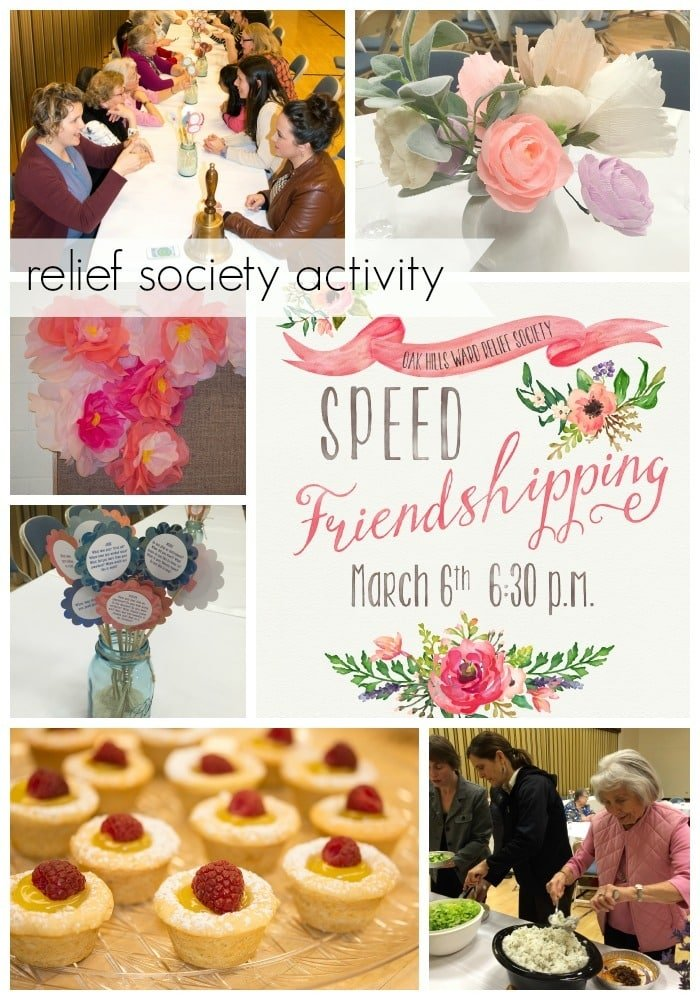 Relief Society Speed Friendshipping Activity@yourhomebasedmom