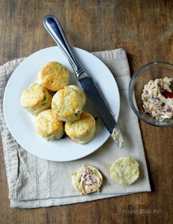 Spring Onion & Cheddar Scones with Bacon Butter