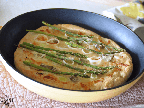 Asparagus & Leek Skillet Pizza