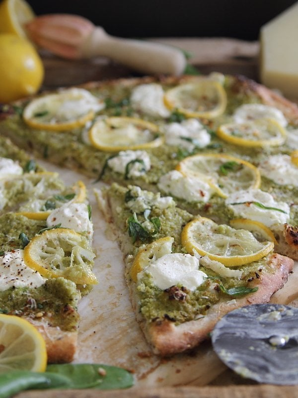 Spring Pea & Lemon Pesto Pizza