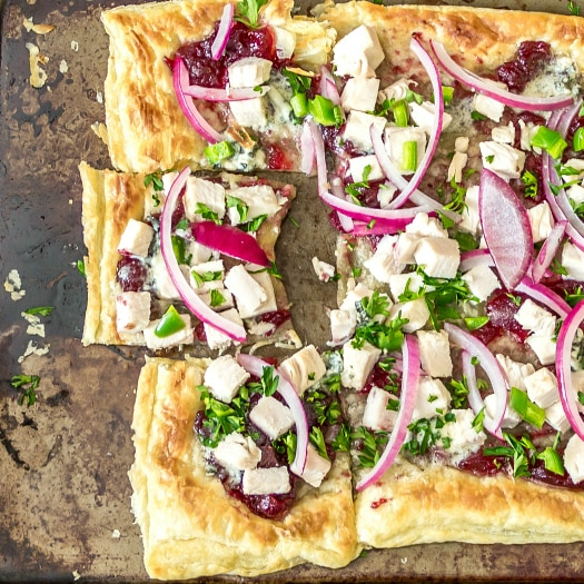 Turkey Cranberry Blue Cheese Pizza