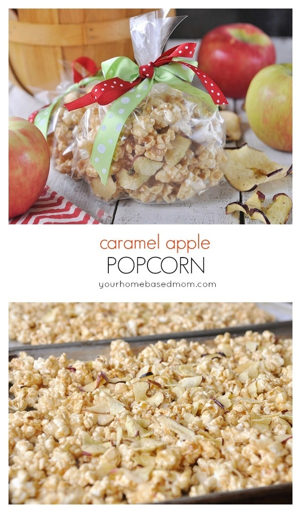 Caramel Apple Popcorn - made in your microwave! @yourhomebasedmom