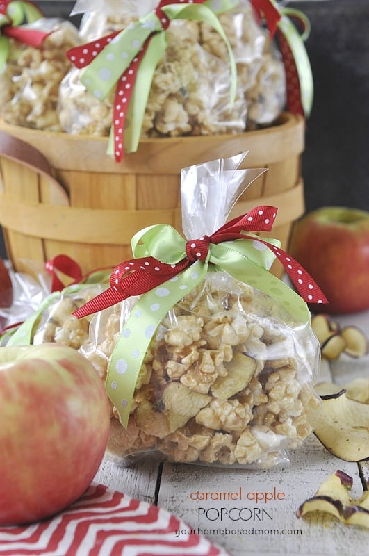 Caramel Apple Popcorn - so yummy and it's made in the microwave!