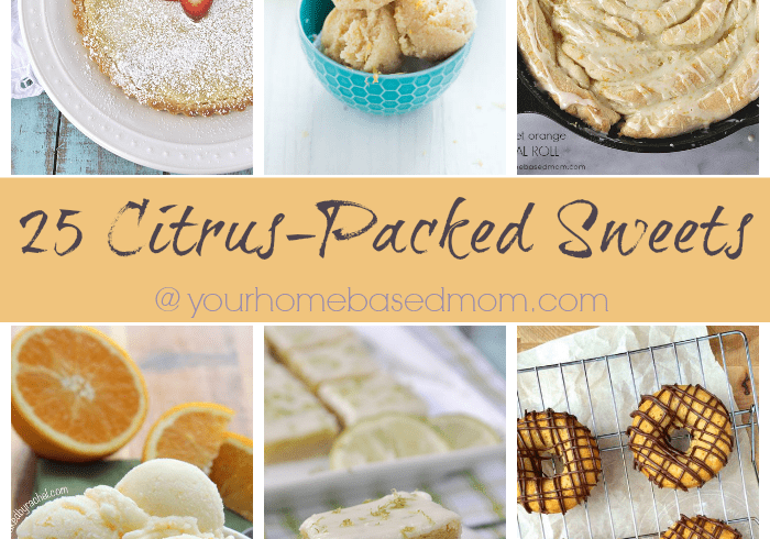 25 Citrus Packed Sweets perfect for the warm Spring days!