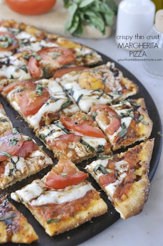 Thin Crust Margherita Pizza Your Homebased Mom