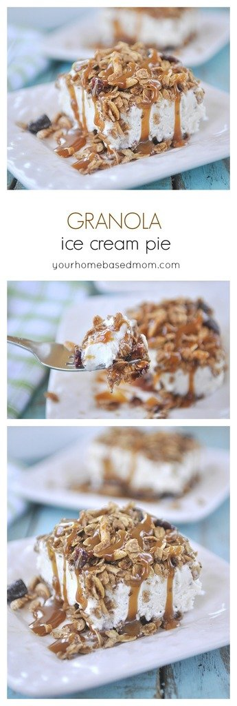 Granola Ice Cream Pie