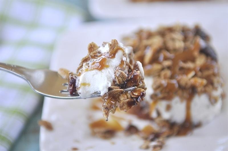 Granola Ice Cream Pie