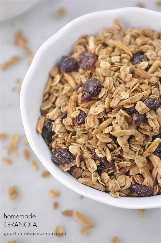Granola is the perfect snack or serve it on yogurt with fresh berries and honey