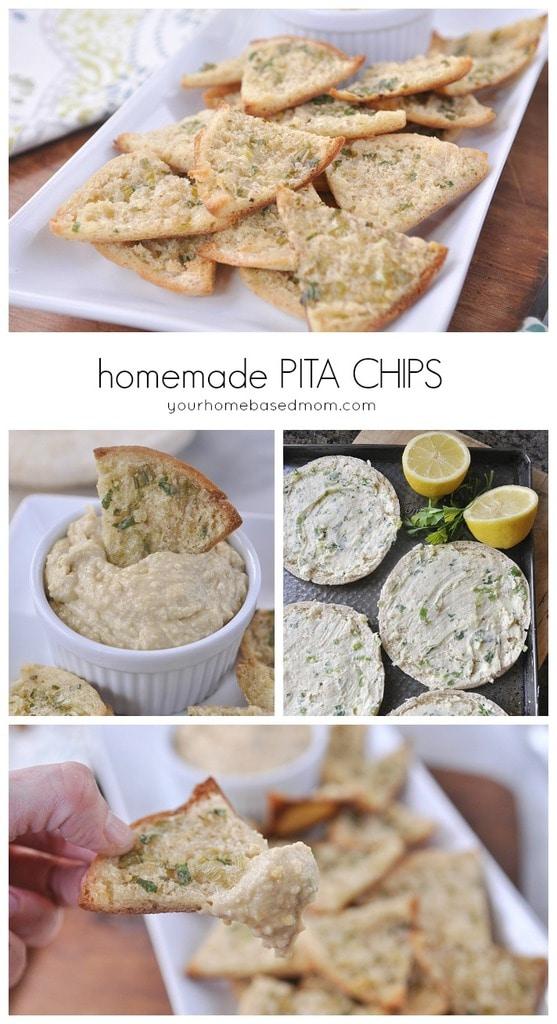 Homemade Pita Chips@yourhomebasedmom
